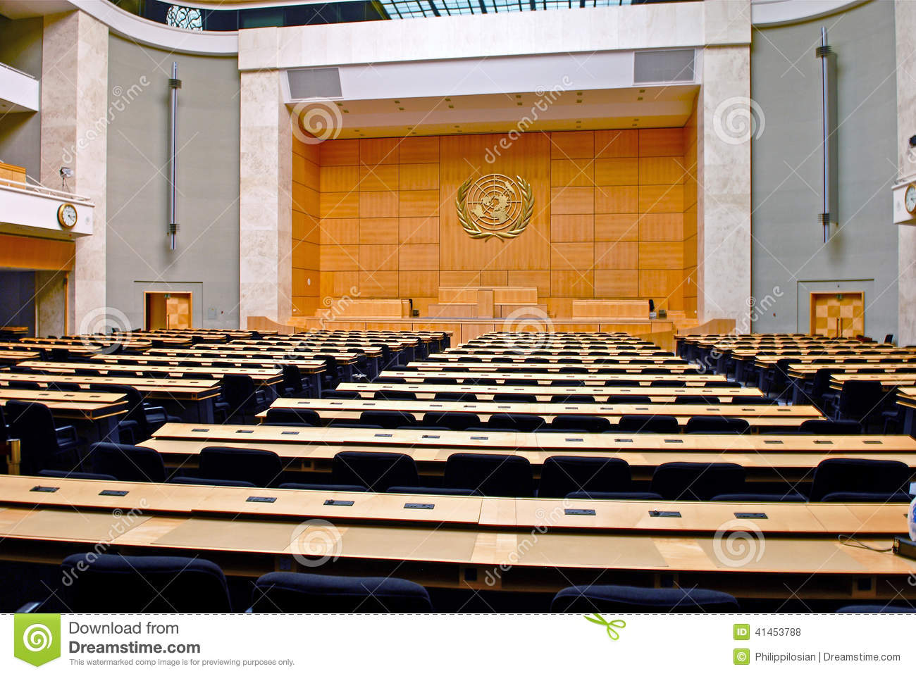 Assembly Hall:Palais Des Nations/Palace Of Nations Editorial Stock.