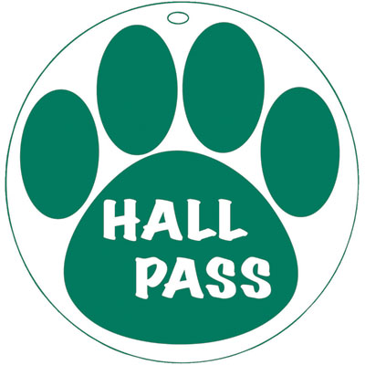 Hall Pass Clip Art.