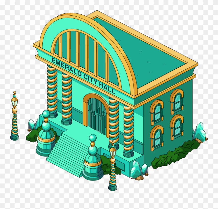 Fg Building Wiz Emerald City Hall , Png Download.