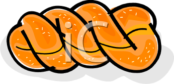 Royalty Free Clipart Image: Braided Challah Bread.