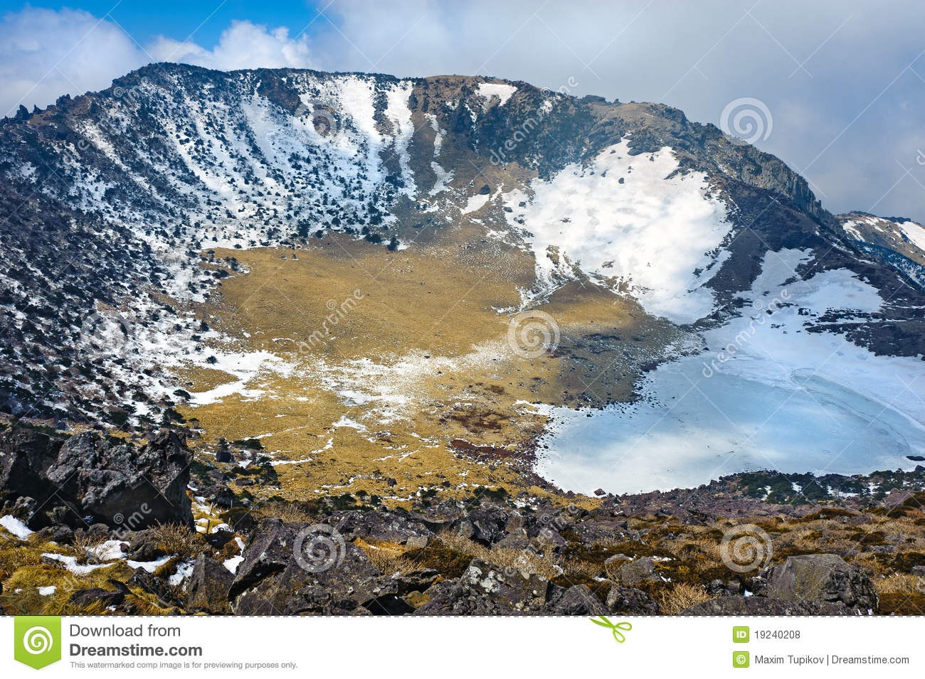 Hallasan Mountain Volcanic Crater Royalty Free Stock Photos.