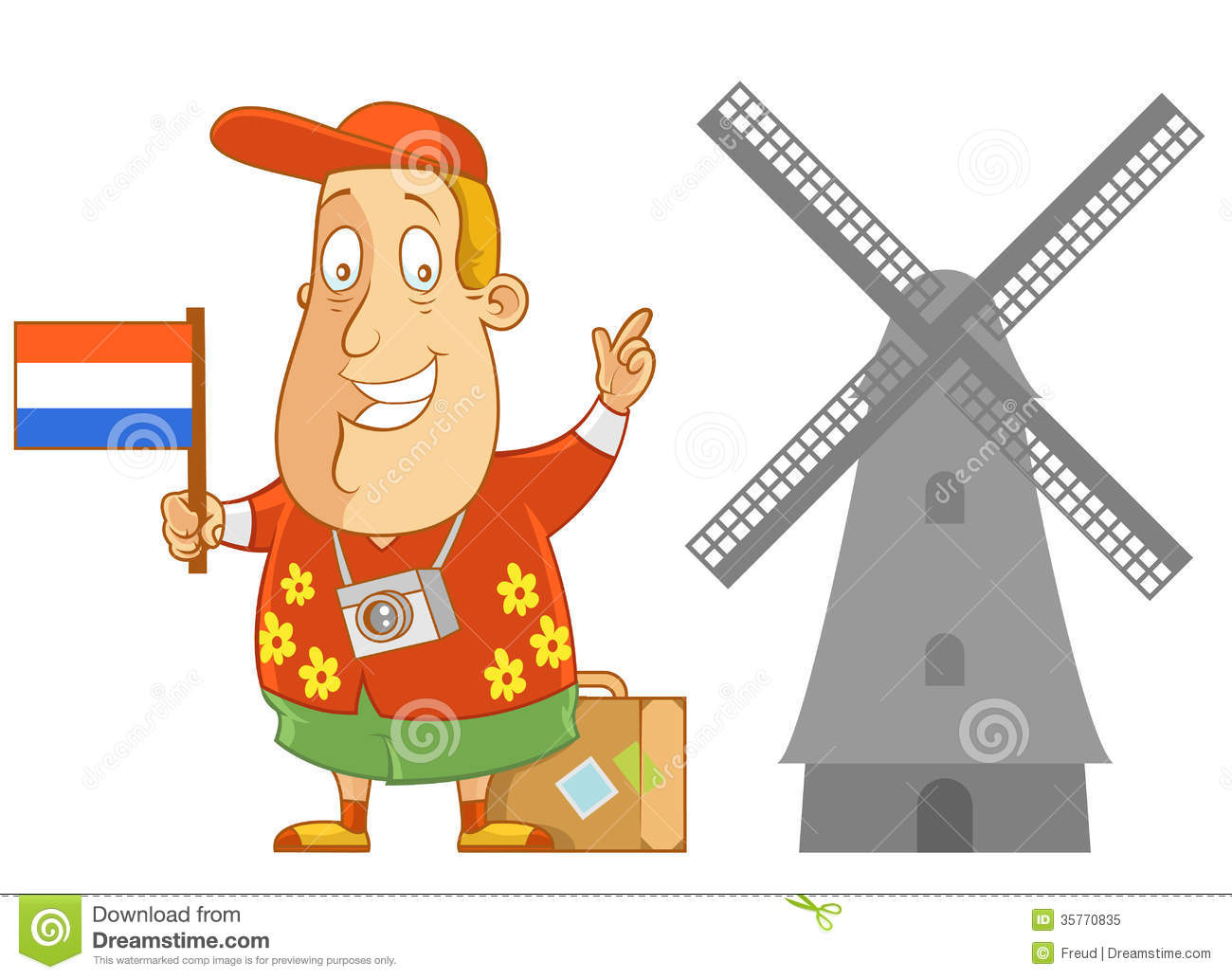 Travel To Holland Royalty Free Stock Photo.