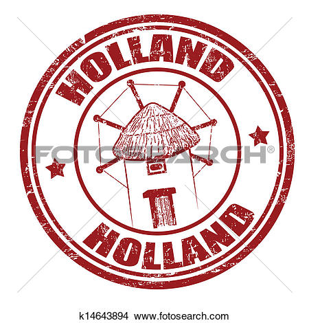 Clipart of Holland stamp k14643894.