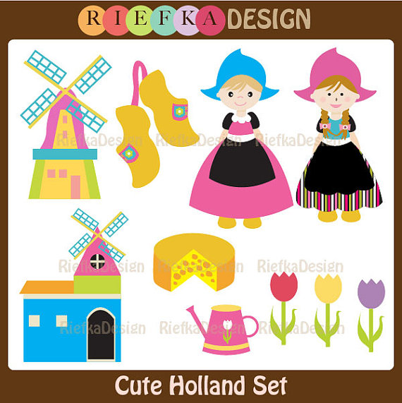 Cute Holland Set Clipart by riefka on Etsy, $5.00.