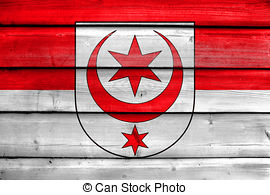 Clipart of Flag of Halle (Saale), Germany. Close Up. csp8772661.