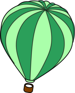 Hot Air Balloon Green Clip Art at Clker.com.