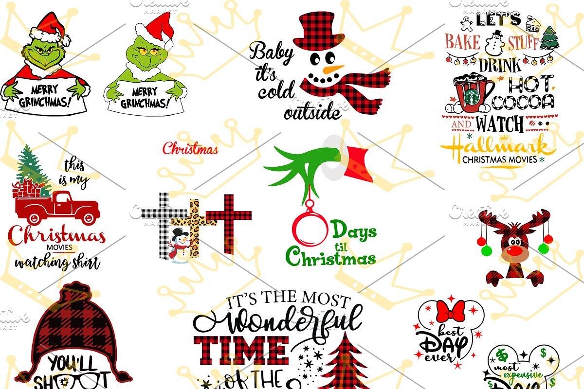 Merry Christmas Bundle clipart ~ Illustrations ~ Creative Market.