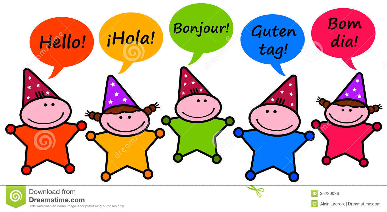 Read In Foreign Languages Clipart.