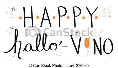 Clip Art Vector of Happy Hallo Vino csp41276060.