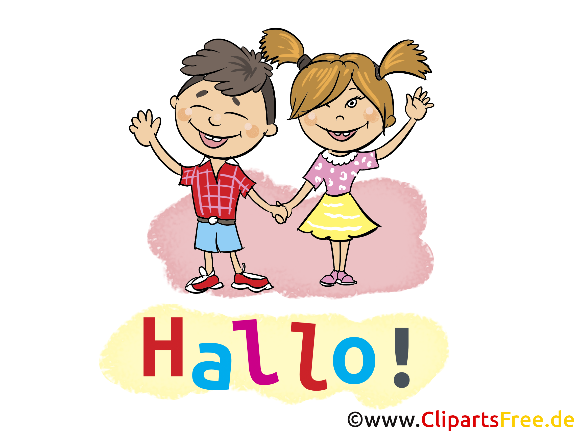 Hallo Bilder, Cliparts, Cartoons, Grafiken, Illustrationen, Gifs.