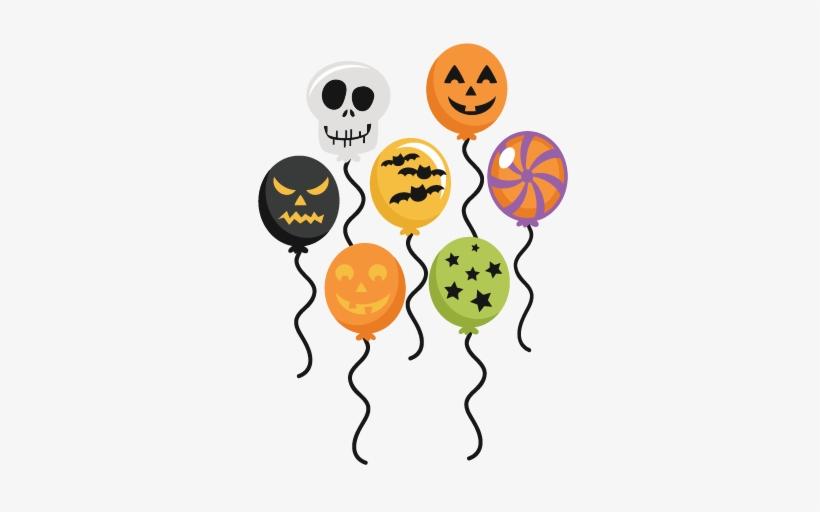 Balloons Transparent Halloween.