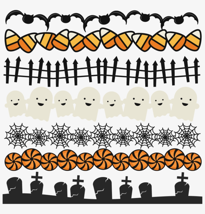 Halloween Border PNG Images.