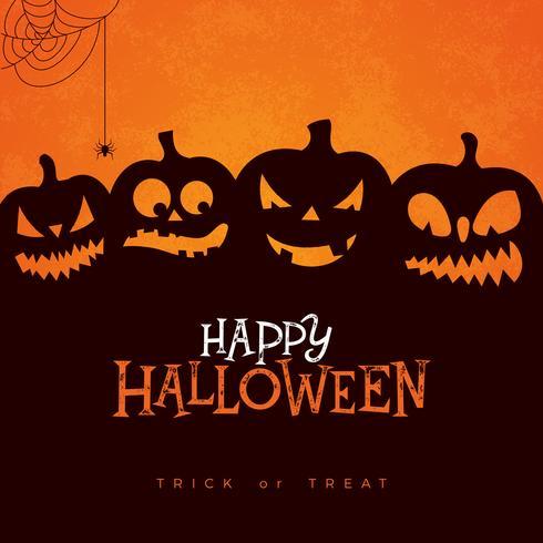 Happy Halloween banner illustration.