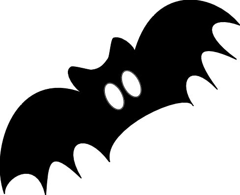 halloween bat clipart black and white ghost silhouette - Clipground