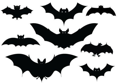 Halloween Bats Silhouettes ….