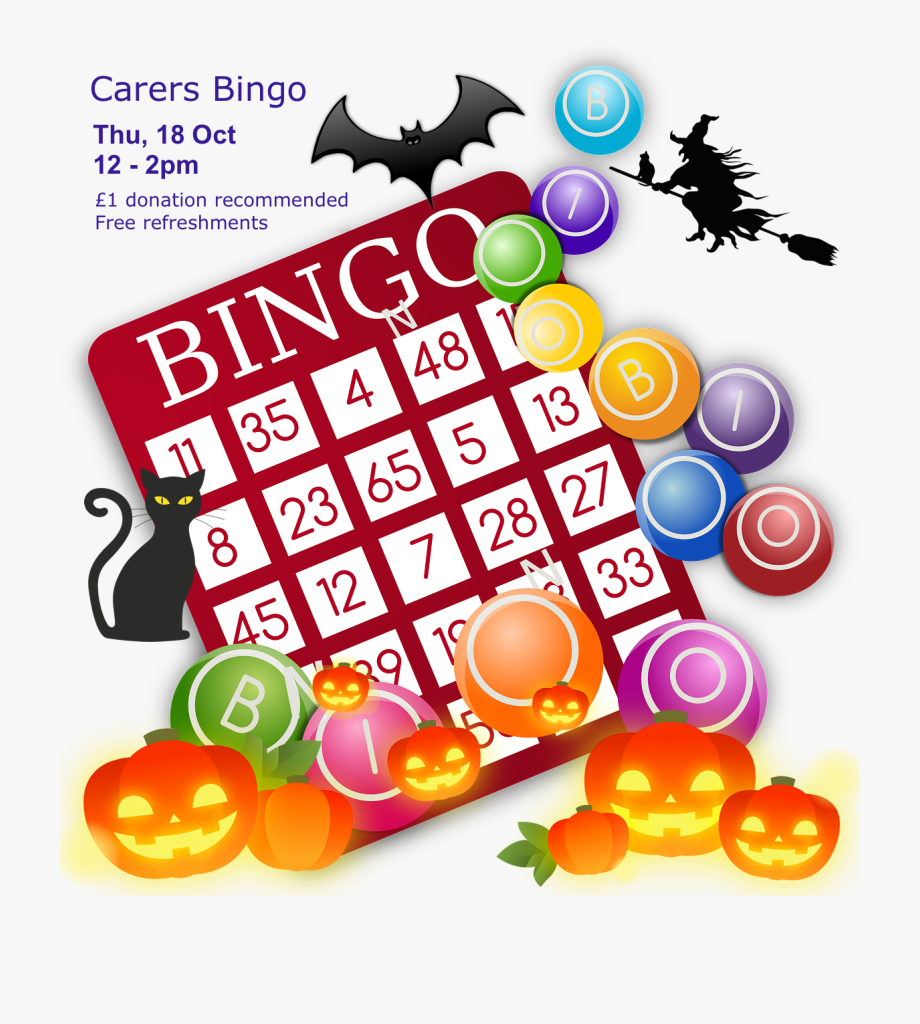 Poster For Lifted Carers\' Halloween Bingo 2018.