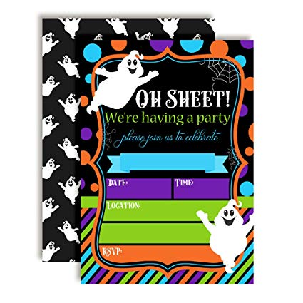 Amazon.com: Oh Sheet! Funny Ghost Halloween Birthday Party.