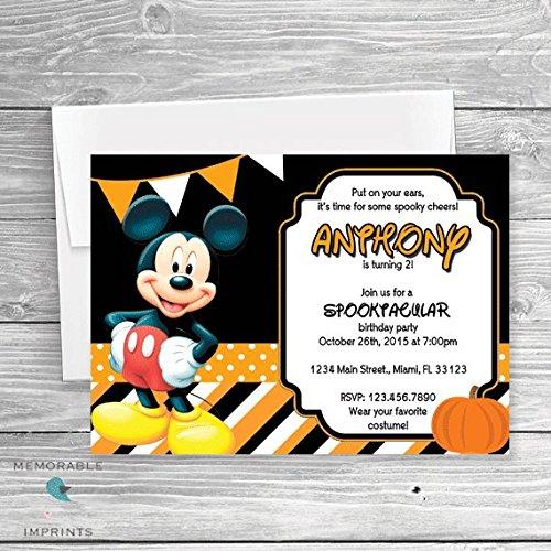 Amazon.com: Mickey Mouse Halloween Party Invitation.
