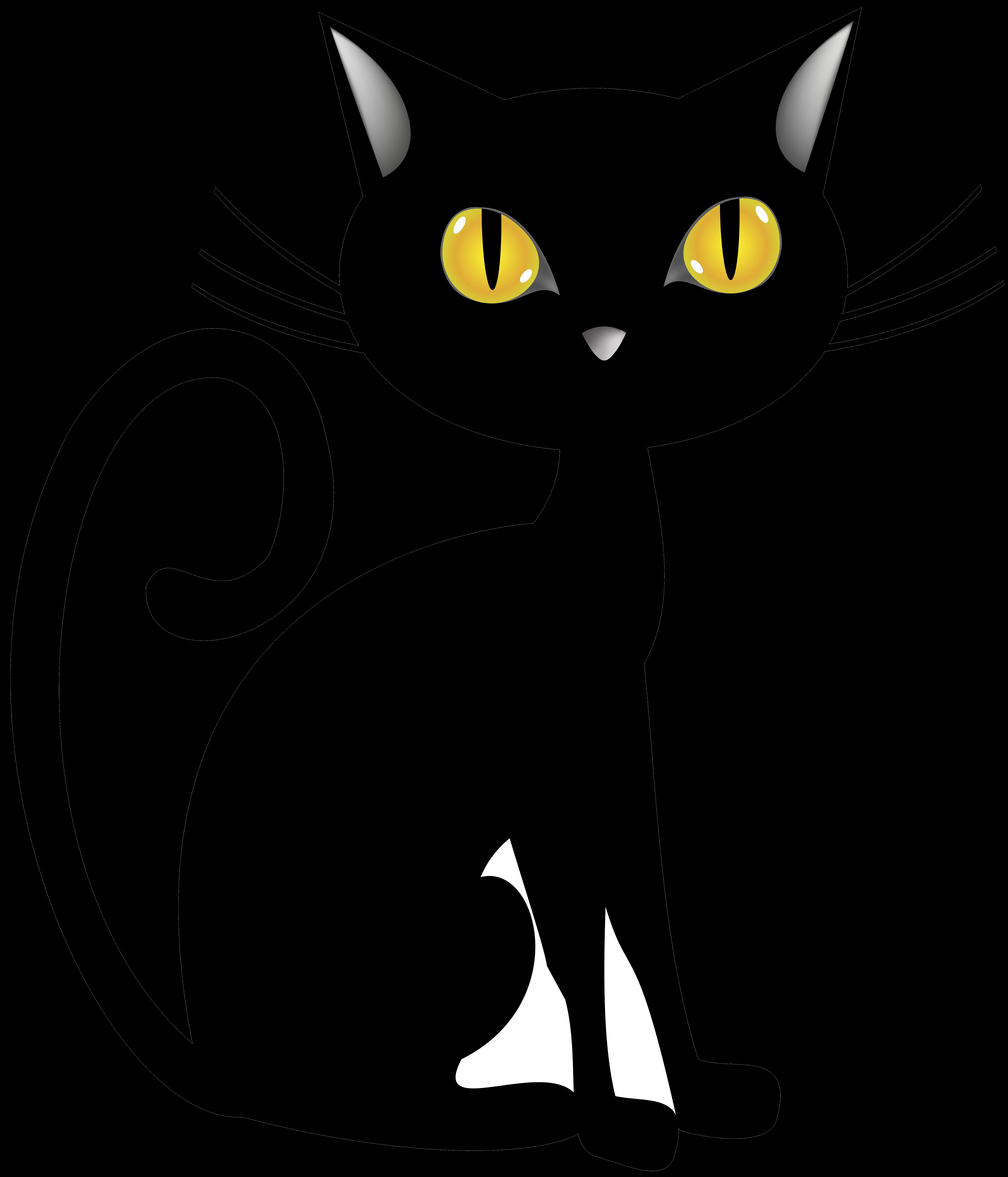Clipart halloween black cat, Clipart halloween black cat.