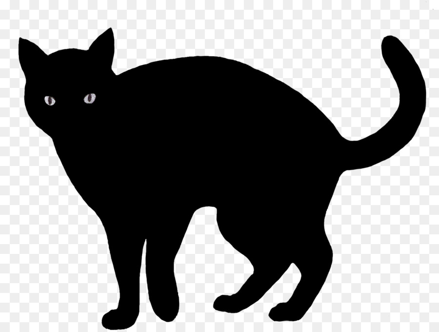 Halloween Silhouette Cat clipart.