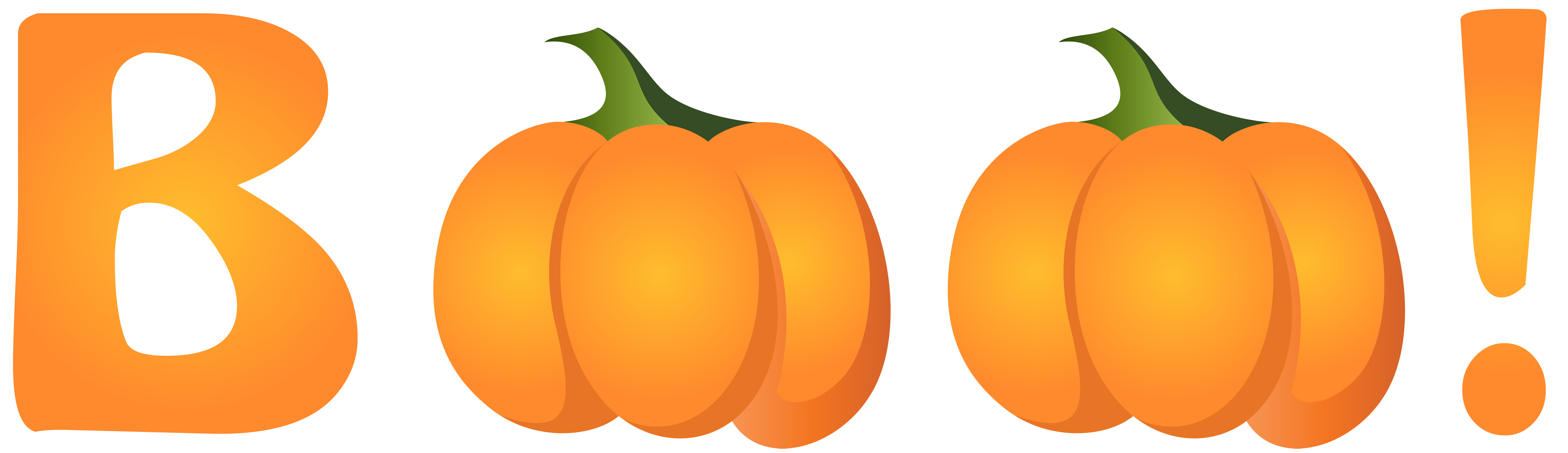 Halloween Boo PNG Clip Art Image.