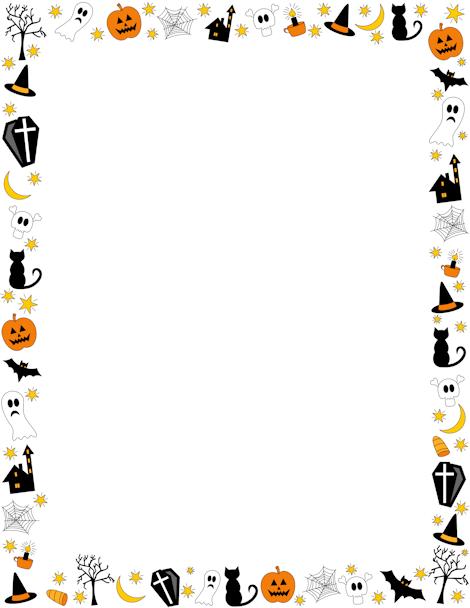 Halloween border featuring jack.