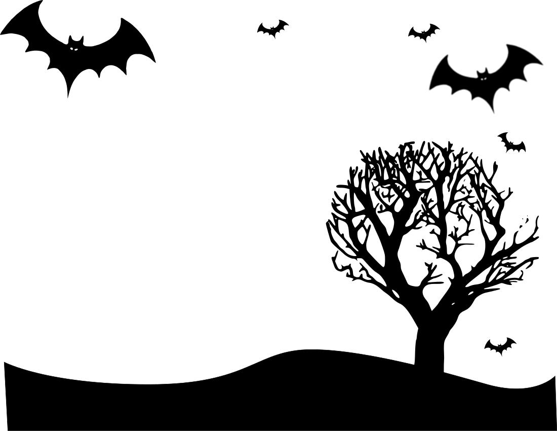Halloween Border Clipart Landscape.