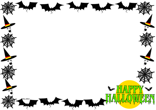 Halloween Themed Lined Paper and Pageborders.