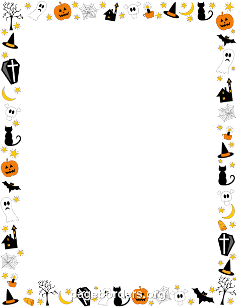 Halloween Border: Clip Art, Page Border, and Vector Graphics.