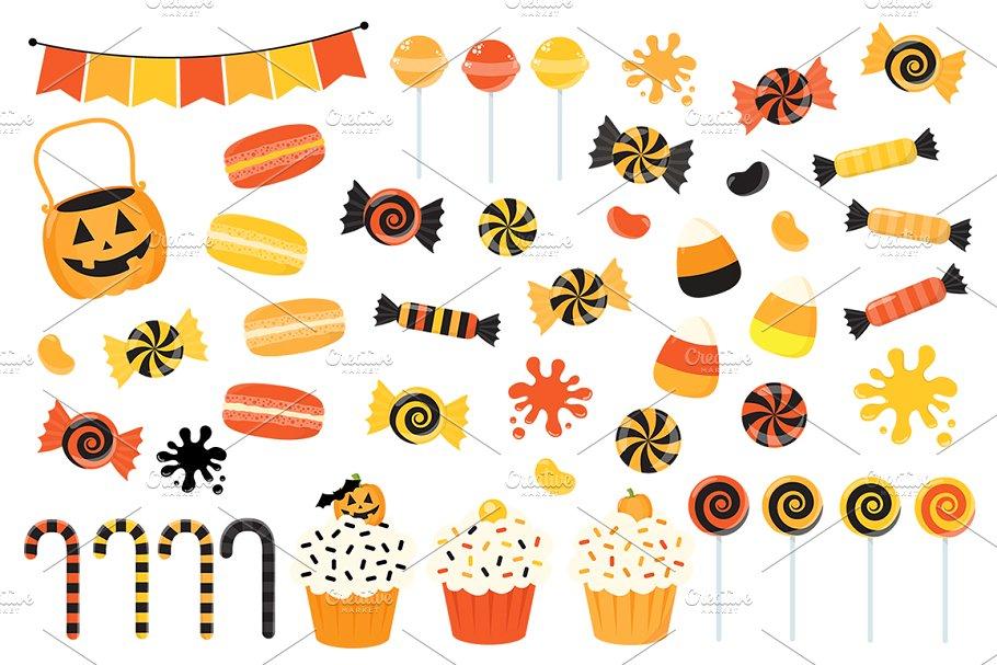 Orange Halloween Candy Clipart.