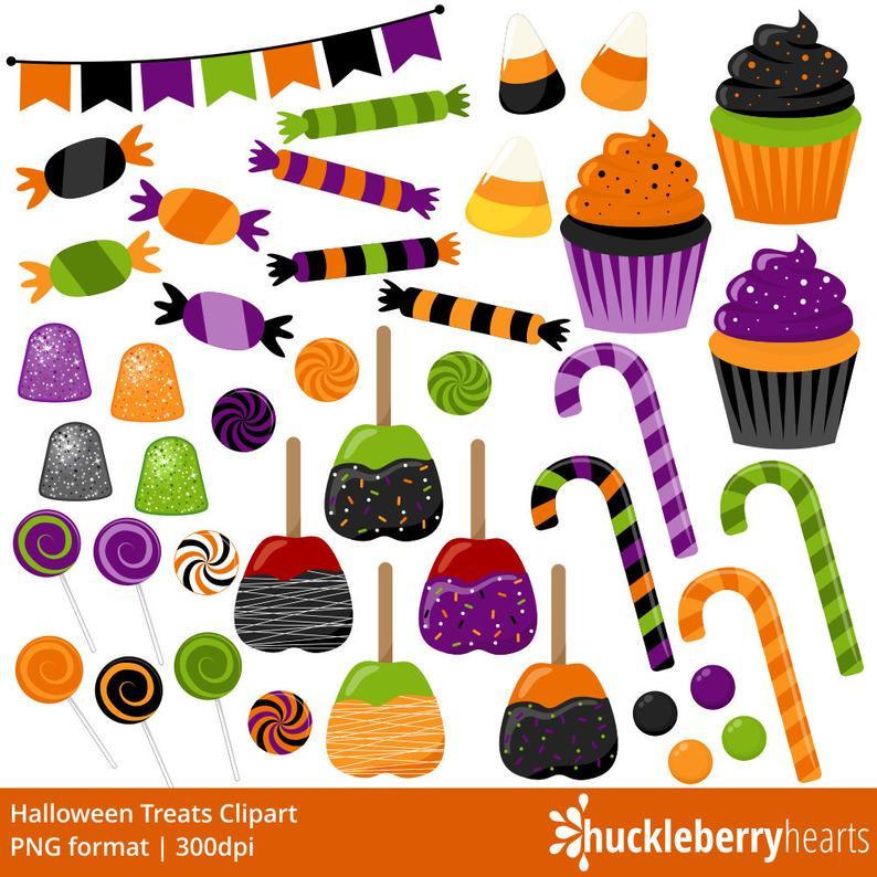 Halloween Candy Clipart, Halloween Clipart, Candy Clip Art, Halloween  Treats, Printable, Commercial Use.