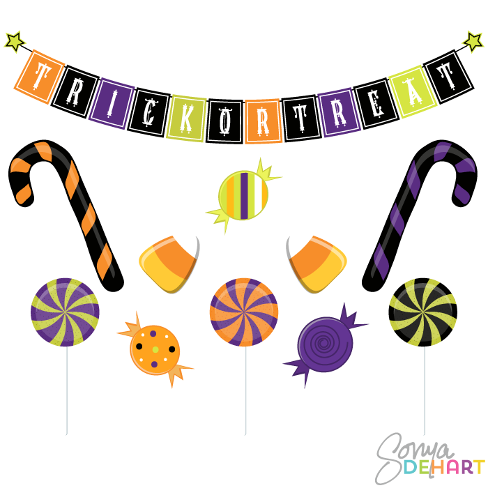 Halloween candy clip art free clipart images 3.