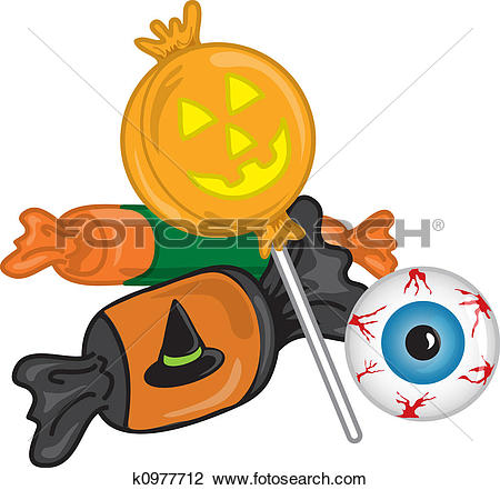 Stock Illustration of Halloween Candy k2465266.