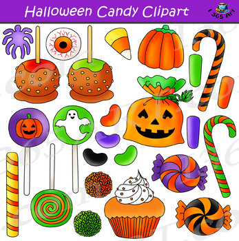 Halloween Candy Clipart Bundle.