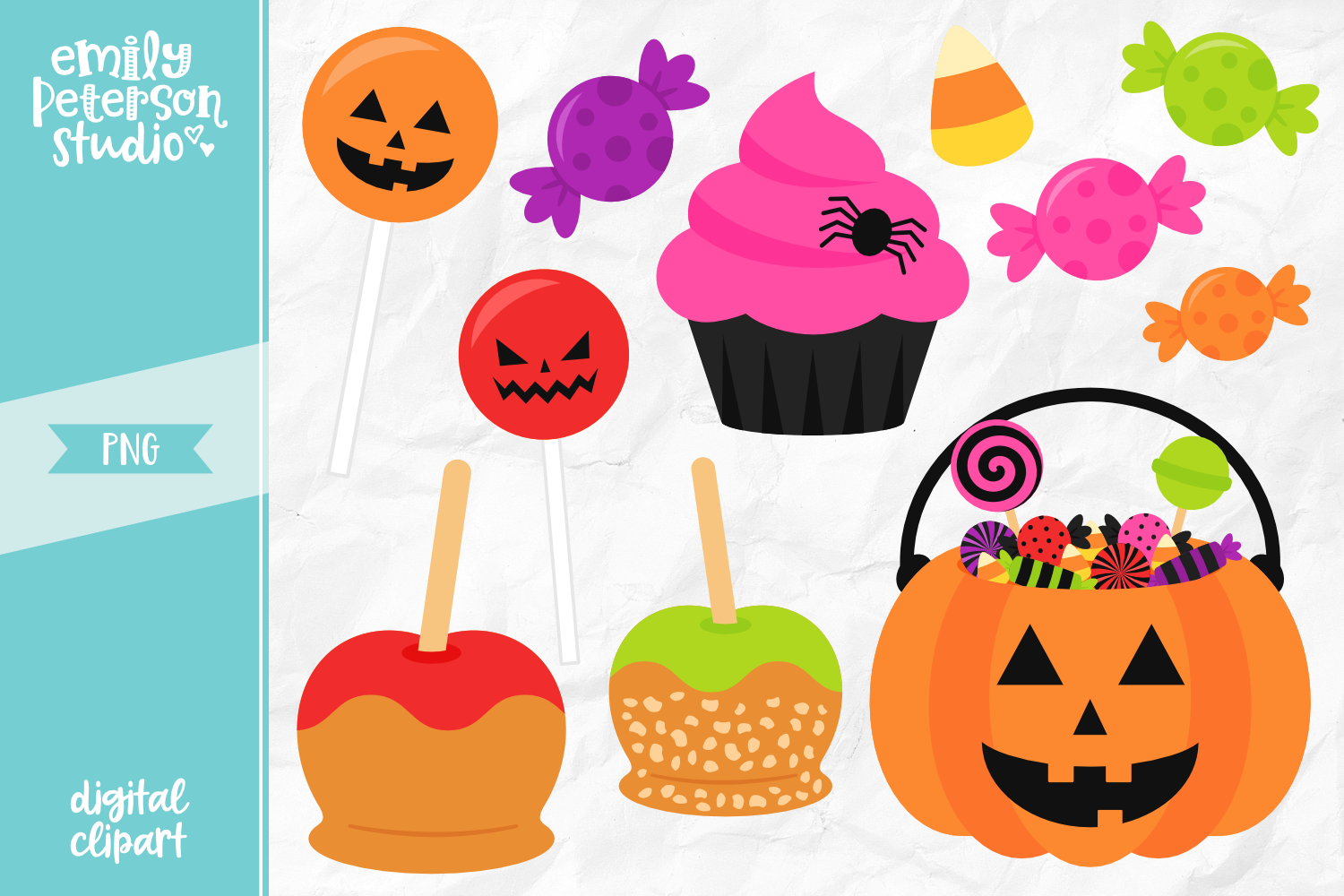 Halloween Candy Clipart Illustration PNG.