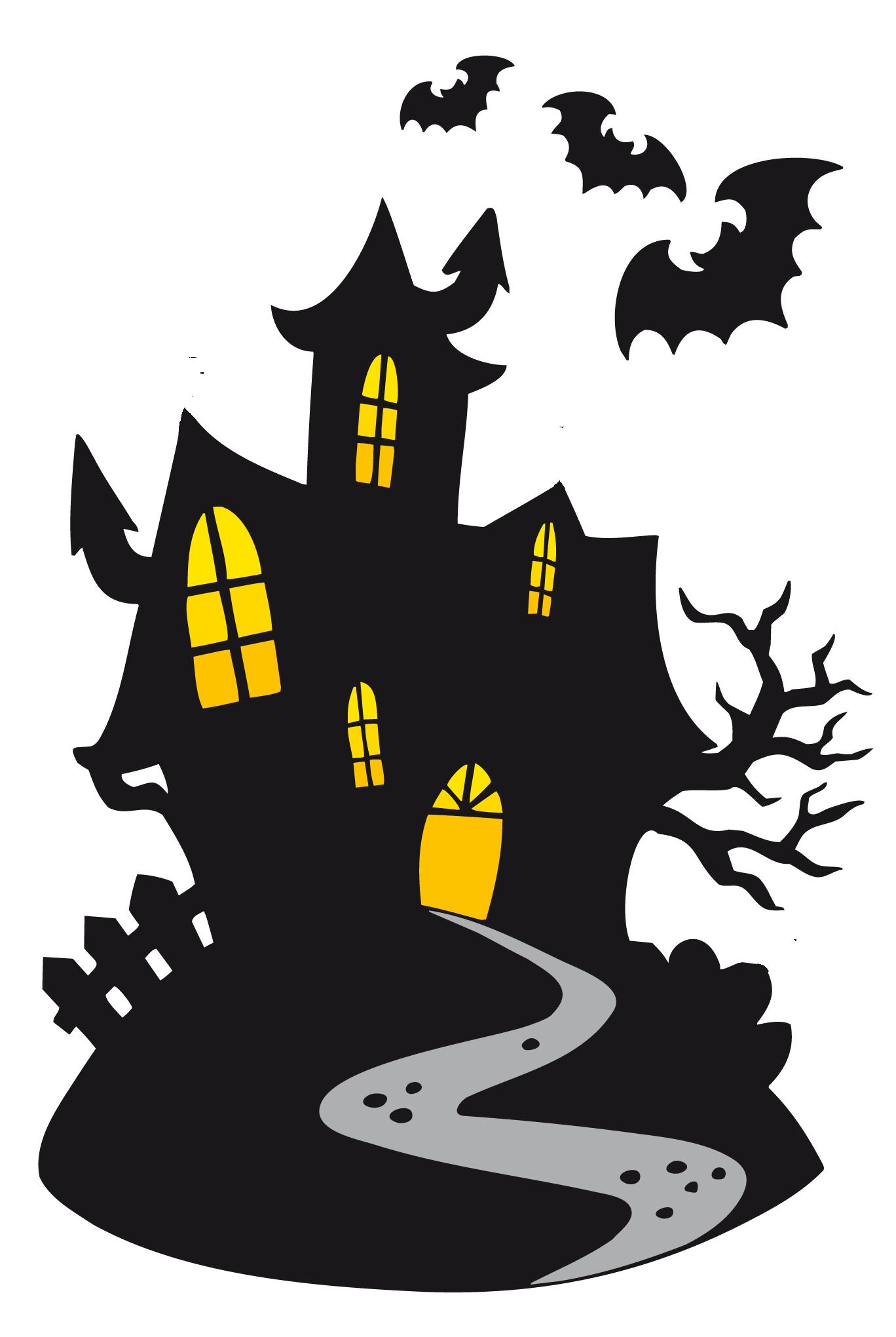 Download Ghost Haunted Castle Halloween Cartoon Free Clipart.