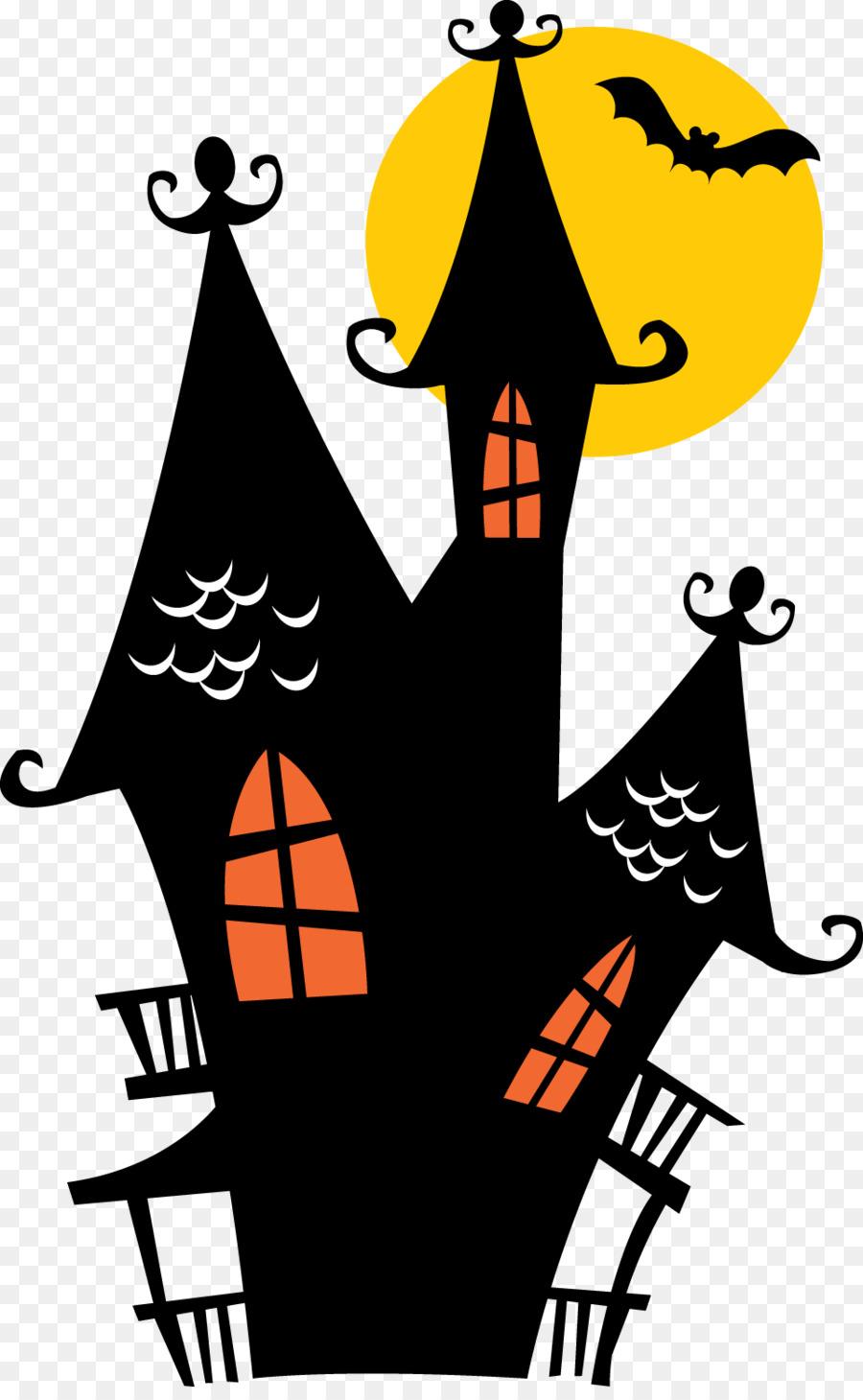 Haunted House Cartoon clipart.