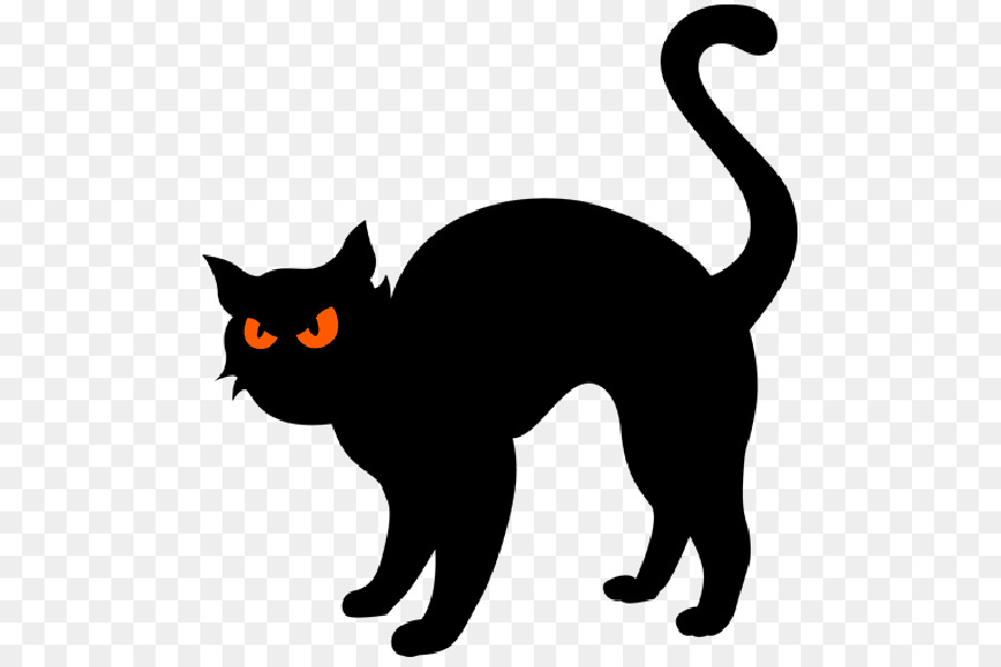 Halloween Cat Silhouette clipart.