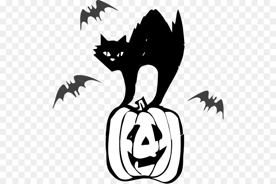 Halloween Cat Silhouette png download.