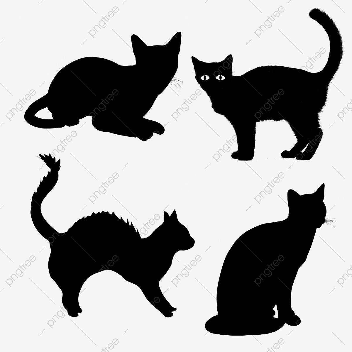 Halloween Cats Clipart Elements, Png, Cats, Clipart PNG Transparent.