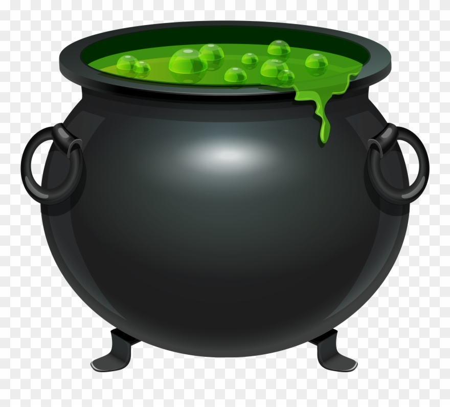 Halloween Witches Cauldron Clip Art.