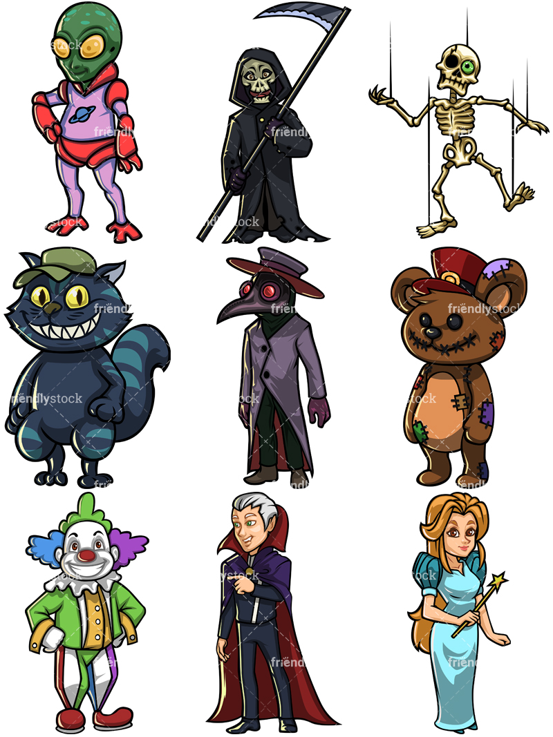 Halloween Characters Collection #1.