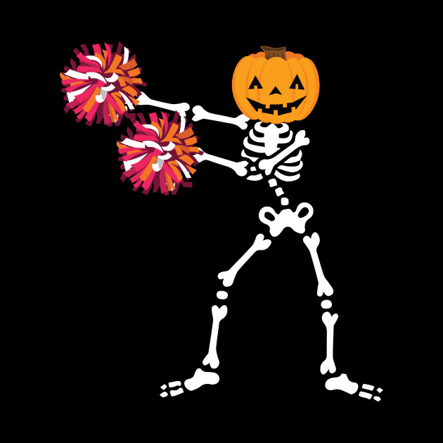 Skeleton Cheerleading Halloween Shirt Flossing Dance Costume.