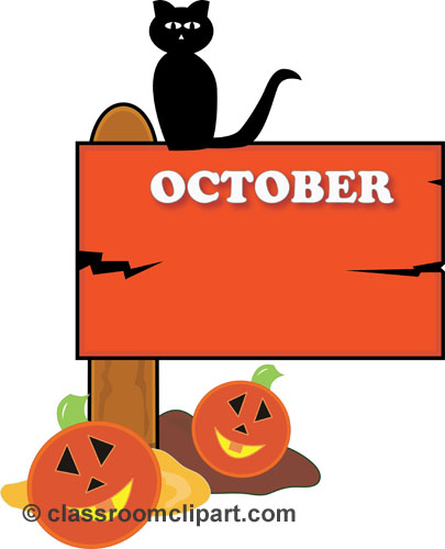 Halloween : october_sign_23 : Classroom Clipart.