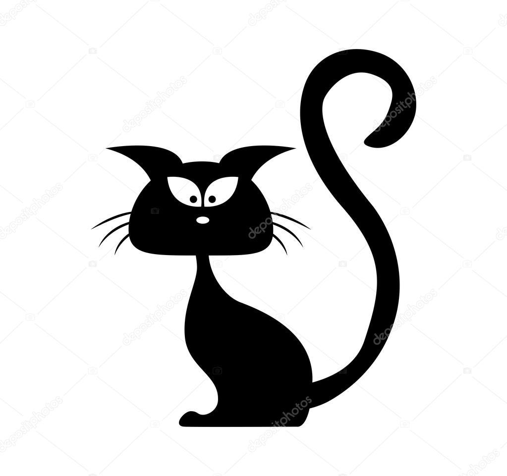 Clipart: black cat.