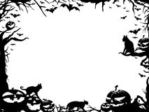 halloween clipart black and white borders - Clipground