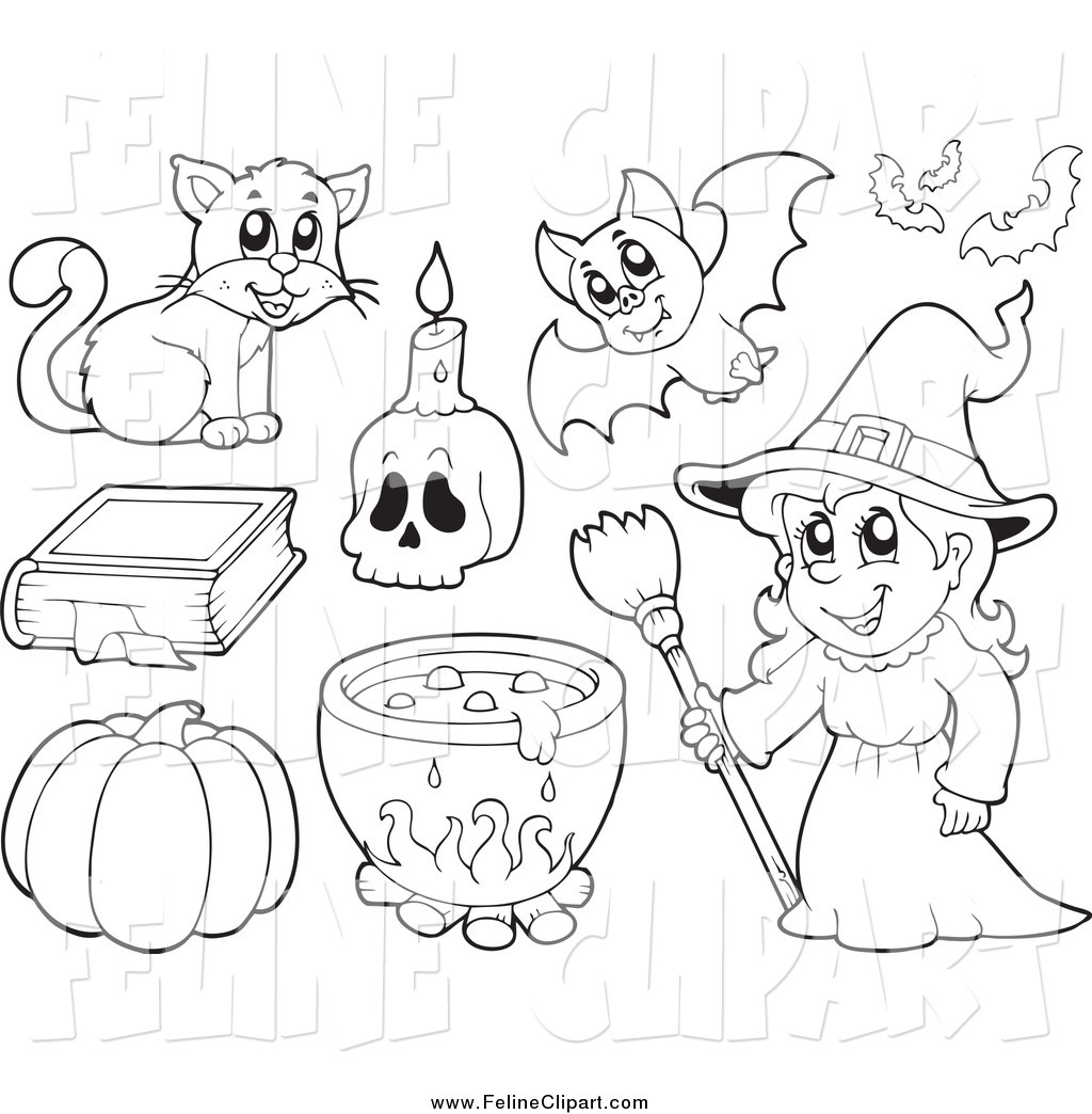 Halloween Clipart Black And White For Photoshop.