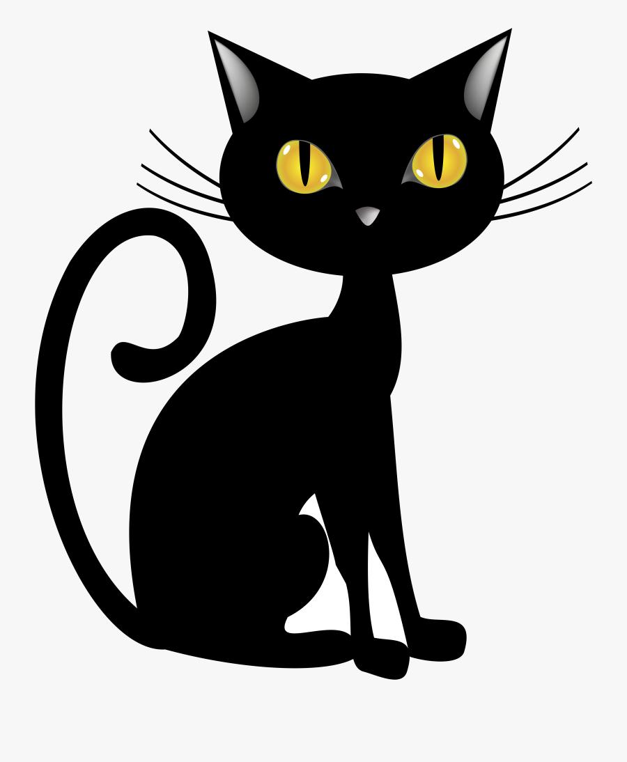 Black Cat Halloween Clip Art Image Gallery Transparent.