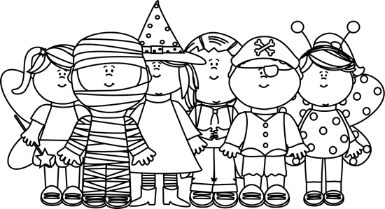 Halloween Clipart For Kids Black And White.