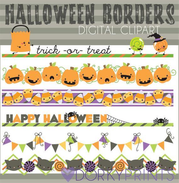 Halloween Clipart Halloween Borders.